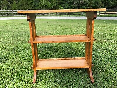 Roycroft Antique  Mission Oak Little Journey's Book Stand