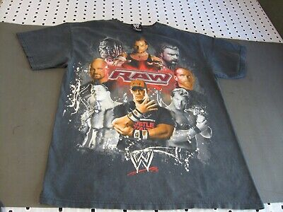 145bd64aa38f5c WWE T-SHIRT BOYS 4-5 XS 6-7 S 10-12 L The Rock John Cena Orton Big ...