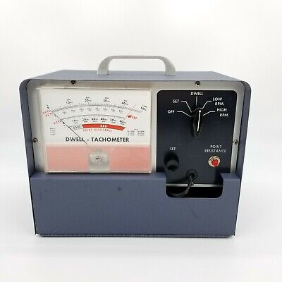 Vintage Dwell Tachometer 8 6 and 4 Cylinder Excellent Working Condition
