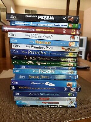 (18) Disney Bluray + Dvd Movies (no digital codes)