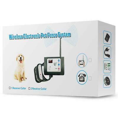 Wireless Dog Fence System - Rechargeable & Waterproof Beep+Shock Collar