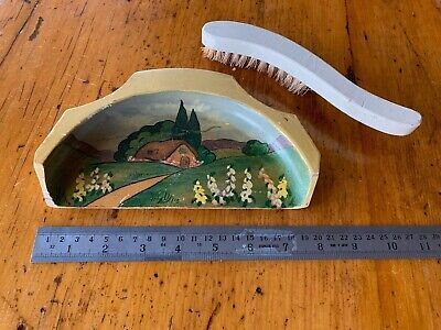 Collectible Vintage 1930s crumb tray and brush