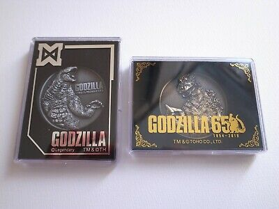 Godzilla 65 Anniversary Medal and Godzilla King of Monsters Limited Medal 2 PSet