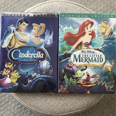 Cinderella & The Little Mermaid DVD Combo - FREE SHIPPING & RETURNS