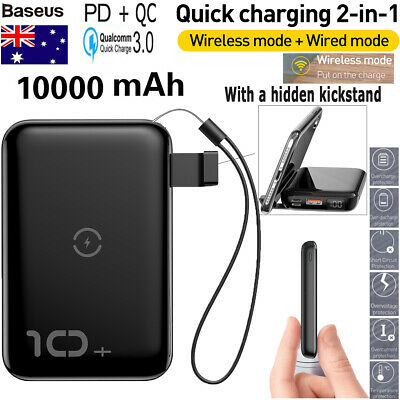 Portable Power Bank PD/QC Fast Charge Type-C 10000mAh Battery Charger Digital
