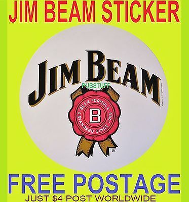3 x JIM BEAM BOURBON STICKERS - BRAND NEW GENUINE MERCHANDISE DECALS - FREE POST