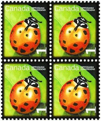 Canada 2234 Beneficial Insects Convergent Lady Beetle 1c block MNH 2007