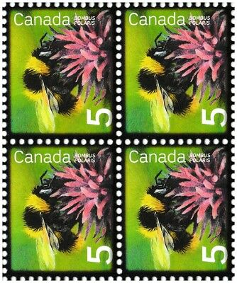 Canada 2236 Beneficial Insects Northern Bumblebee 5c block (4 stamps) MNH 2007