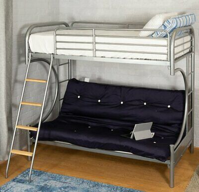 Cool Curved Silver Metal Futon Bunk Bed Frame Pull Out Sofa Bralicious Painted Fabric Chair Ideas Braliciousco