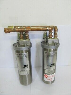 Cuno 55733-01, Stainless Steel Filter & Housing - 1 lot of 2 filters