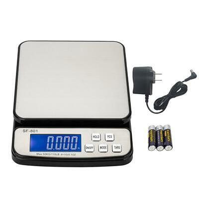 110 LB x 0.1 OZ Pro Digital Postal Shipping Scale Weight Kitchen Count + Adapter