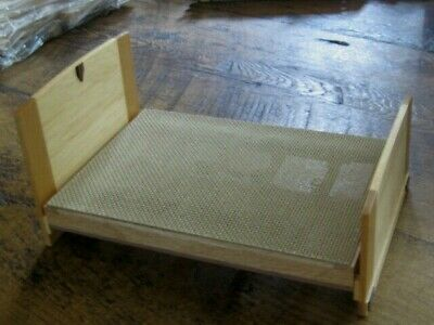 Gorgeous Artisan Art Deco Double Bed For Doll House Beautifully Made