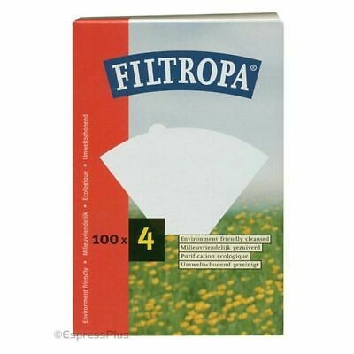 Filtropa Size 4 Filter Papers, Pack of 100, White