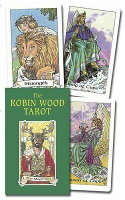 The Robin Wood Tarot Incl. Cards by Robin Wood (2002, Cards,Flash Cards)
