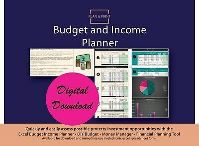 Budget Income Planner • Diy Budget • Money Manager • Financial Planning Tool •