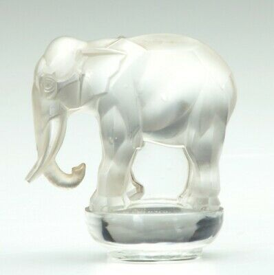 Lalique French Toby Éléphant glass mascots-hood ornaments, paperweights leaflet