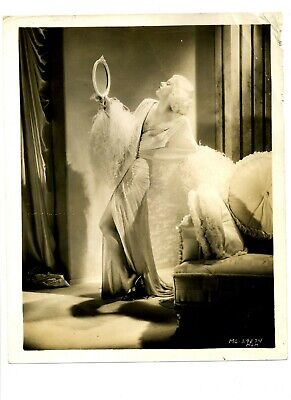 "JEAN HARLOW ""Dinner at Eight"" 1933 RARE Original Vintage Movie Still with mirror"