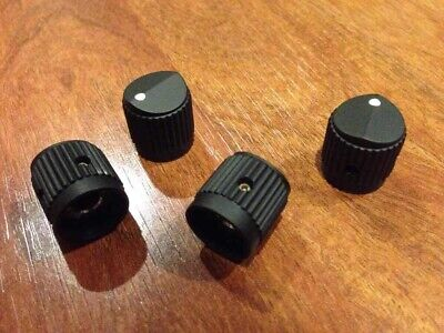 "Spector Bass Knobs Set Screw 1/4"" Rare (Set Of 4) Emg New Guitar Black"