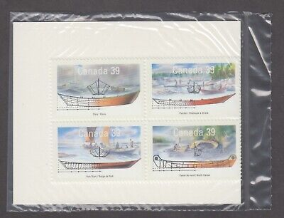 Canada Sealed Block Of 4 Of 1266-1269Mnh Small Craft - 2 Work Boats