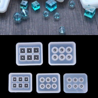 Crystal Geometric Jewelry Mold Pendant Silicone Ornament Resin DIY Craft TooSC