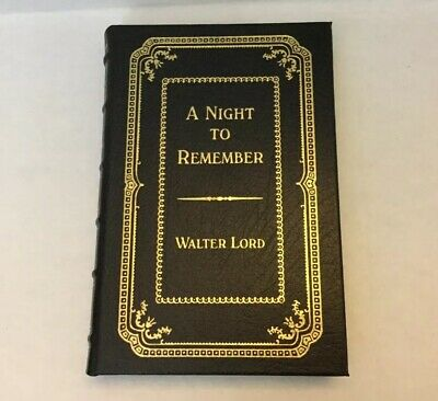 Signed A Night To Remember By Walter Lord  #1609/3000