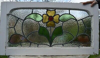 Frame 847 x 453mm leaded light stained glass fanlight sash above door size R897b