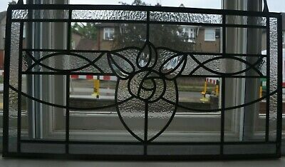 795 x 427mm. NEW leaded light stained glass fanlight above door size. R948.
