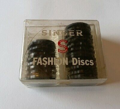 Vintage Singer 22 sewing machine fashion discs rare accessory 7 12 15 27 missing