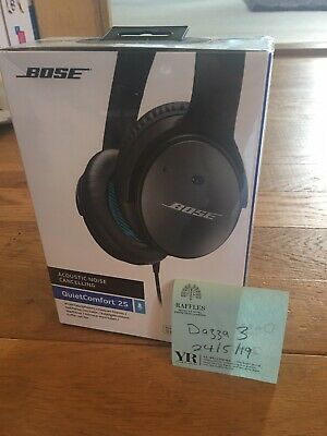 Bose QuietComfort 25 Wired Acoustic Noise Cancelling Headphones -Black. Sealed