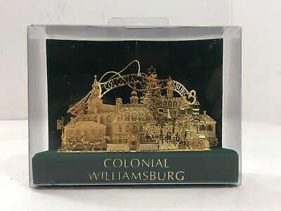 Colonial Williamsburg 3D Brass Christmas Ornament