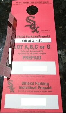 *RED PARKING PASS* Chicago White Sox vs Chicago Cubs 7/6/2019
