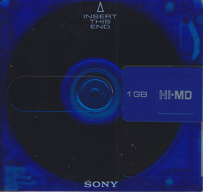 1 x New Sony HI-MD 1GB MiniDisc in case. Sealed.
