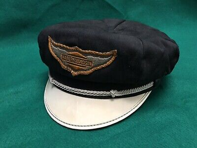 900bb1a9c MINT VTG 50'S Style HARLEY Road Captain BRANDO Cap HAT Rockabilly L ...