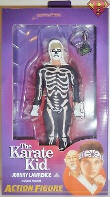 "JOHNNY LAWRENCE Skeleton Suit The Karate Kid 8"" Clothed Action Figure Neca 2019"
