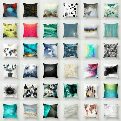 Throw Fashion Pillow Case Cushion Cover Geometric Home Decor Polyester 18''