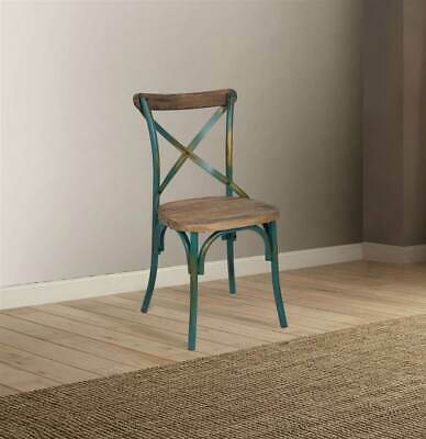 Side Chair in Antique Turquoise and Antique Oak [ID 3871837]