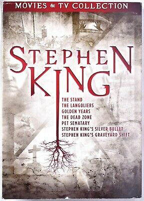 STEPHEN KING Movie & Tv Collection DVD 9 Disc Set >NEW< (Minor Slipcover Damage)