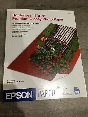Epson Premium Photo Paper GLOSSY 11x14 Inches, 20 Sheets (S041466)
