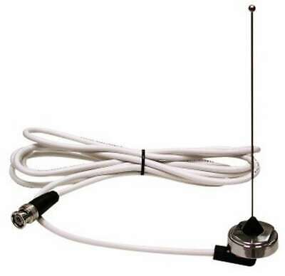 """Racing Electronics Antenna 6"""" Tall Stingray Roof Mount 9' Cable Steel Natural"""