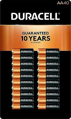 DURACELL AA Battery 40 Pack MN15TB40 1.5V Alkaline Exp. 2027