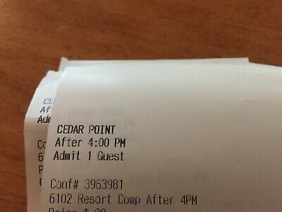 Tickets to Cedar Point - Twilight Ticket - Value after 4pm through Sept 2, 2019