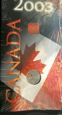 "2003P Canada 25 Cent ""Canada Day Bear"" Coloured Quarter-Sealed In Card-New"