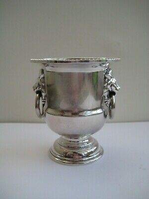 Vintage Viners Of Sheffield England Mark Silver Plated Egg Cup/ Pot Lion Head