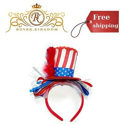 Women 4th Of July Uncle Sam Headband Girls Independence Day Hair Party Accessory