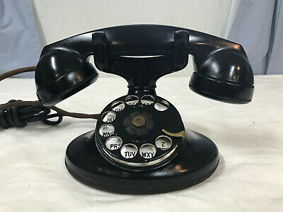 Vintage Western Electric Bell Systems Telephone D1 F1 Antique Ebony