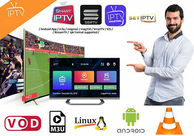1 MONTH IPTV Subscription Smart IPTV App MAG Android IOS Firestick enigma2 VOD