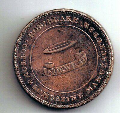 c 1812 Norwich Twopence Two penny coin token : Rob Blake