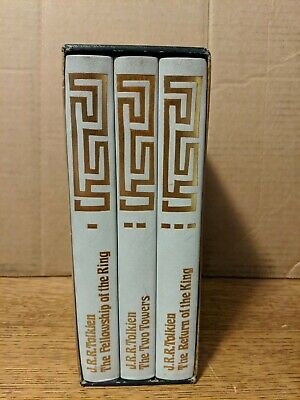 FOLIO SOCIETY LORD OF THE RINGS J R R Tolkien 1977 3 vol leather free S/H