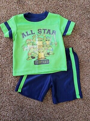 toddler boy Tennage Mutant Ninja Turtle outfit 18 months, TMNT clothes set