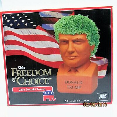 PRESIDENT DONALD TRUMP CHIA Freedom of Choice Republican GOP Pottery Planter
